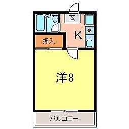 安井マンション2[1階]の間取り