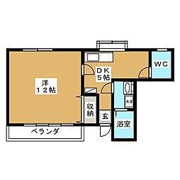 ブルーハイツ1[1階]の間取り