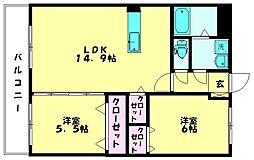 ユーミー山川[305号室]の間取り