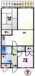 ベルメゾン欅[2階]の間取り
