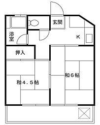 ミゾノコーポ[3階]の間取り
