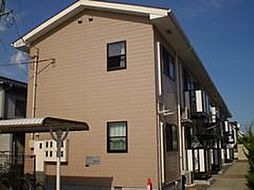 岡山県岡山市南区万倍の賃貸アパートの外観