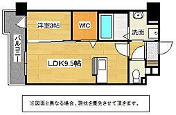 福岡県行橋市中央2丁目の賃貸マンションの間取り
