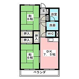 第三松本ビル[4階]の間取り