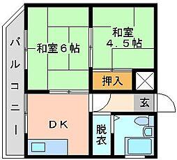 泰平小倉駅前ビル[503号室]の間取り