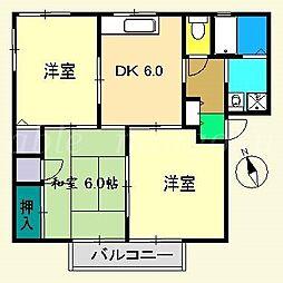 ハートハイツ[2階]の間取り