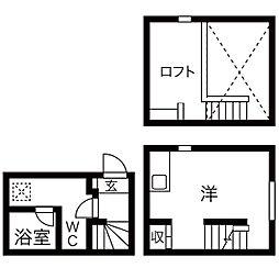 akara(アカラ)[2階]の間取り
