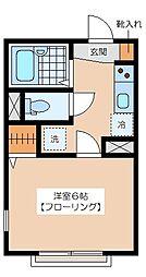 PLAZACOUAT UMEGAOKA[205号室]の間取り