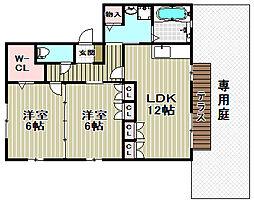 櫻ハイツ[2階]の間取り