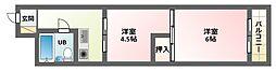 レッツハイツ3[4階]の間取り