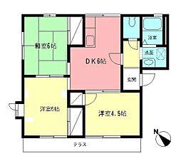 メゾン中村A[2階]の間取り