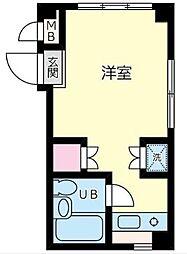 神奈川県横浜市神奈川区神之木台の賃貸マンションの間取り