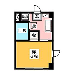 丸和マンション[4階]の間取り