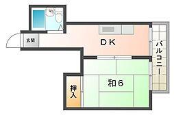 ベルメゾンM[2階]の間取り