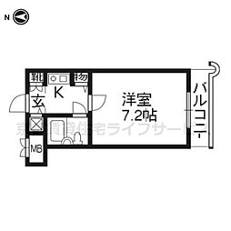 De'lead堀川御池 (デ・リード堀川御池)[2階]の間取り