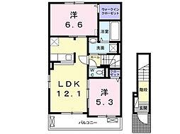 ルーチェA[2階]の間取り