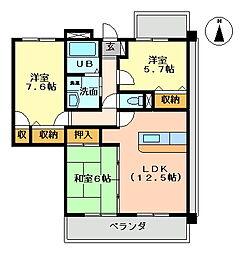 K's2002[217号室号室]の間取り