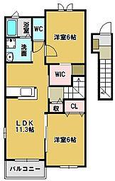 ランドマーク・2013[2階]の間取り