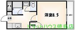 セ・ミューSUEHIRO[205号室]の間取り