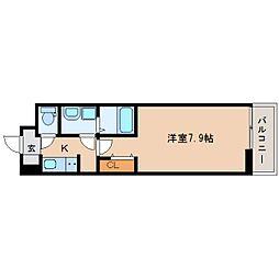 JR関西本線 奈良駅 徒歩12分の賃貸アパート 2階1Kの間取り
