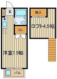 東京都西東京市下保谷4の賃貸アパートの間取り