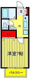 サニーコートI II[2-202号室]の間取り