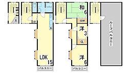 [一戸建] 兵庫県神戸市須磨区寺田町3丁目 の賃貸【/】の間取り