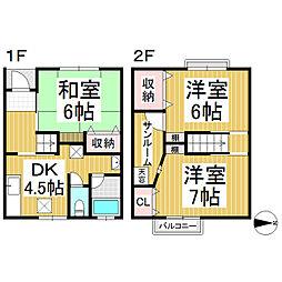 [テラスハウス] 長野県長野市三輪8丁目 の賃貸【/】の間取り