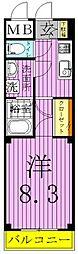 東京都足立区東伊興4丁目の賃貸アパートの間取り