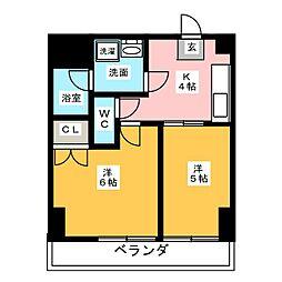 第2タジックビル[3階]の間取り