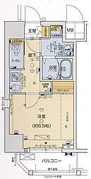 ララプレイス京町堀プロムナード 5階1Kの間取り