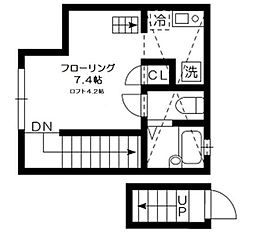 東京都杉並区井草1の賃貸アパートの間取り