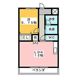 ブランシールIII[1階]の間取り
