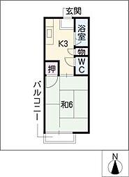 ロイヤル小塩VI[2階]の間取り