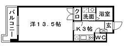 クレスティ博多[8階]の間取り