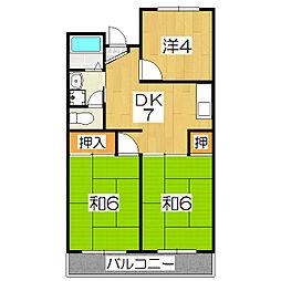 ラフォーレKEGO[2階]の間取り