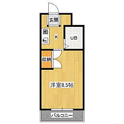 京都府京都市伏見区桝形町の賃貸マンションの間取り