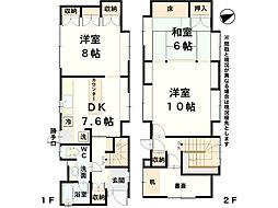 [一戸建] 石川県金沢市泉2丁目 の賃貸【/】の間取り