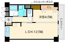 第2パレス東洋[3階]の間取り