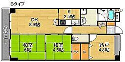 ライオンズマンション泉南樽井[3階]の間取り