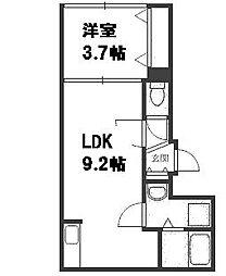 北海道札幌市豊平区平岸六条9丁目の賃貸マンションの間取り