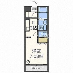 札幌市営南北線 北18条駅 徒歩6分の賃貸マンション 1階1Kの間取り