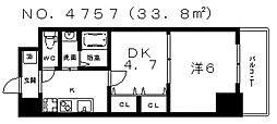 グランパシフィックパークビュー[8階]の間取り