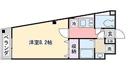 Y-ark tsudanuma[206号室]の間取り