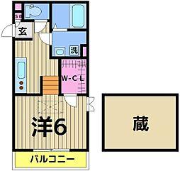 東京都足立区六月3丁目の賃貸アパートの間取り