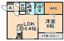 兵庫県伊丹市森本4丁目の賃貸アパートの間取り