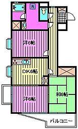 サンドラアーレ[2階]の間取り