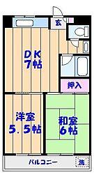 鈴木ハイツ[204号室]の間取り