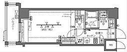 都営三田線 白金高輪駅 徒歩8分の賃貸マンション 6階1Kの間取り