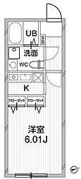 ZESTY神楽坂II[103号室号室]の間取り